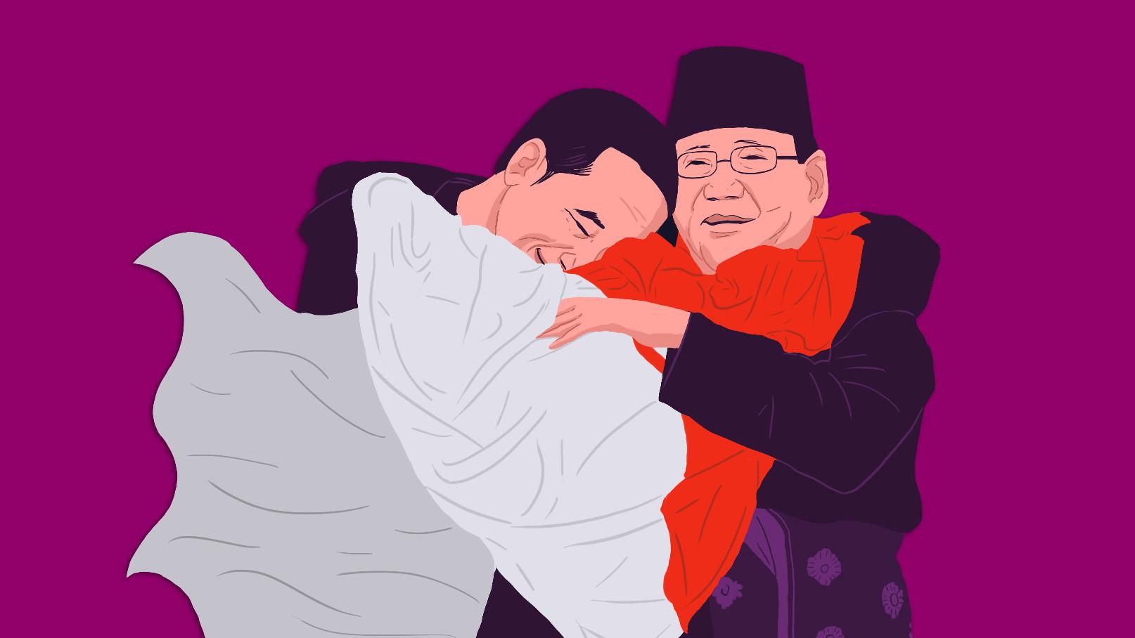 Kisah Di Balik Pelukan Jokowi Prabowo